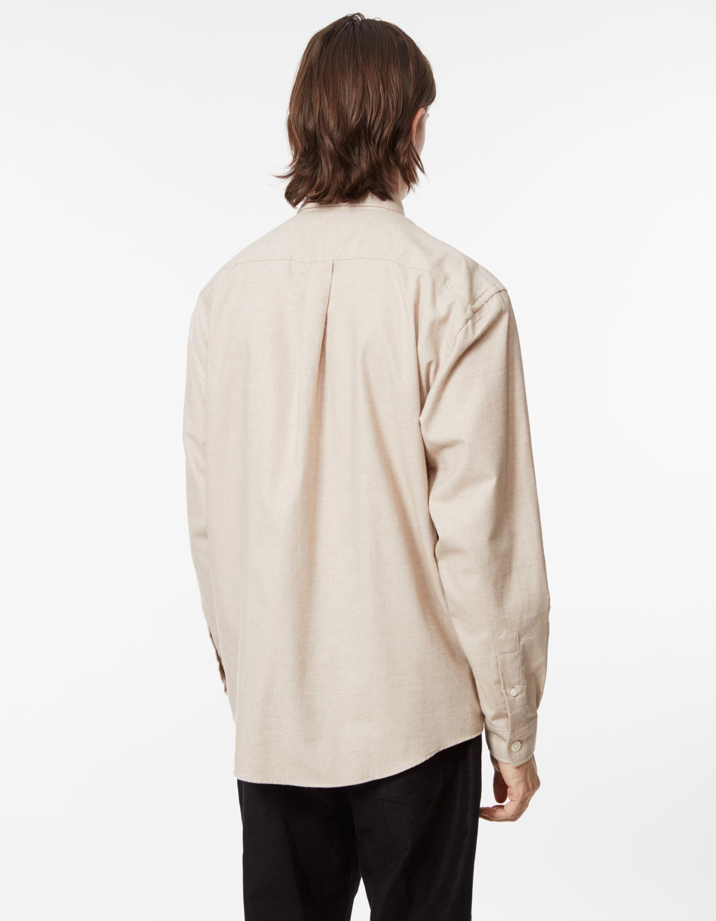 Shirt boxy cashmere solid camel