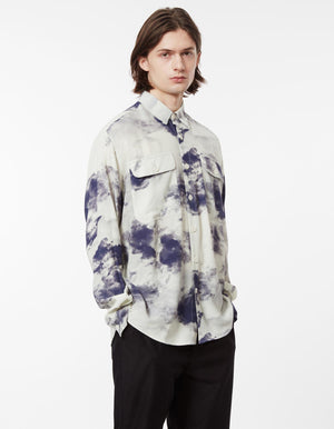 Shirt boxy cloud print
