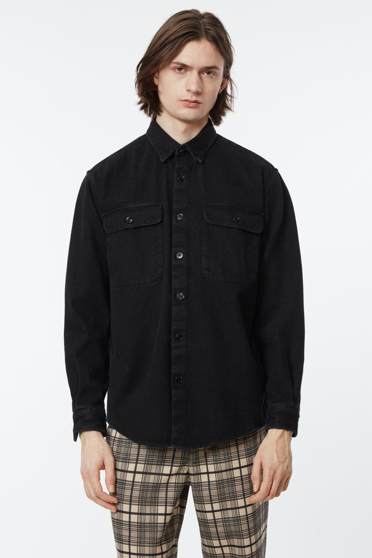 Shirt boxy denim black