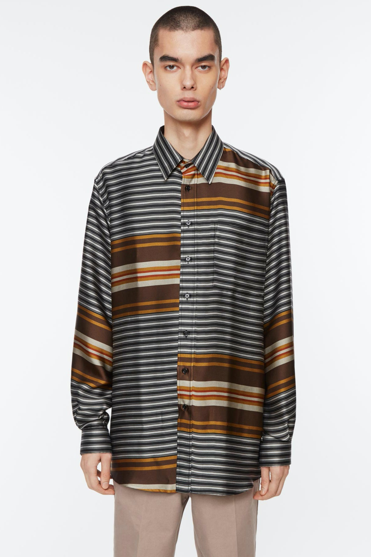 Shirt non binary liquid stripe multi colour stripe