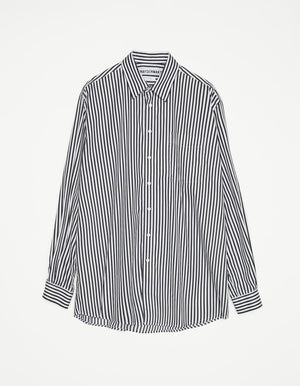 Shirt non binary stripe black and white