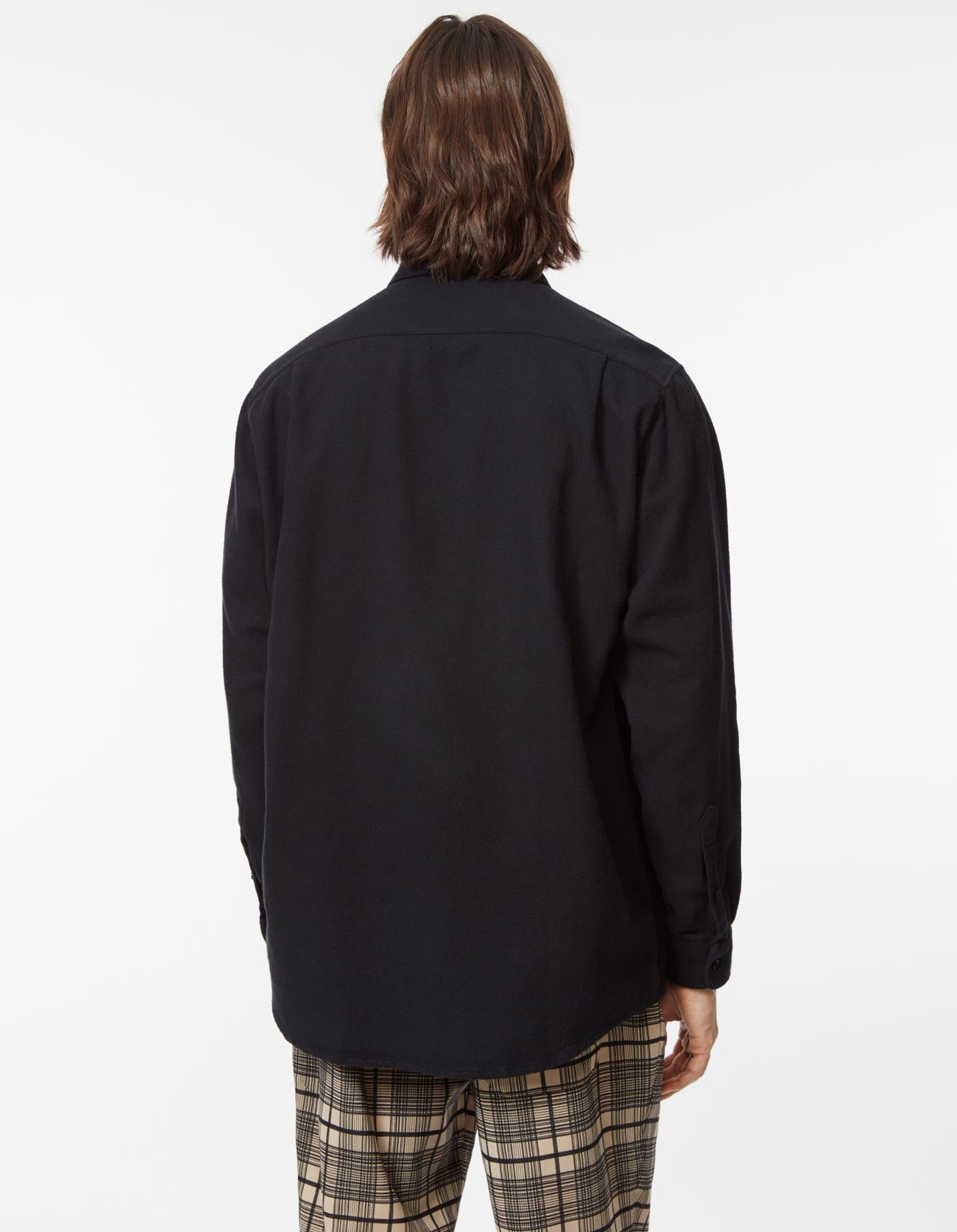 Shirt non binary twill flannel black