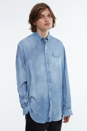 Shirt oversized faded blue