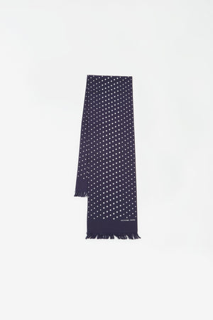Short scarf dot print navy