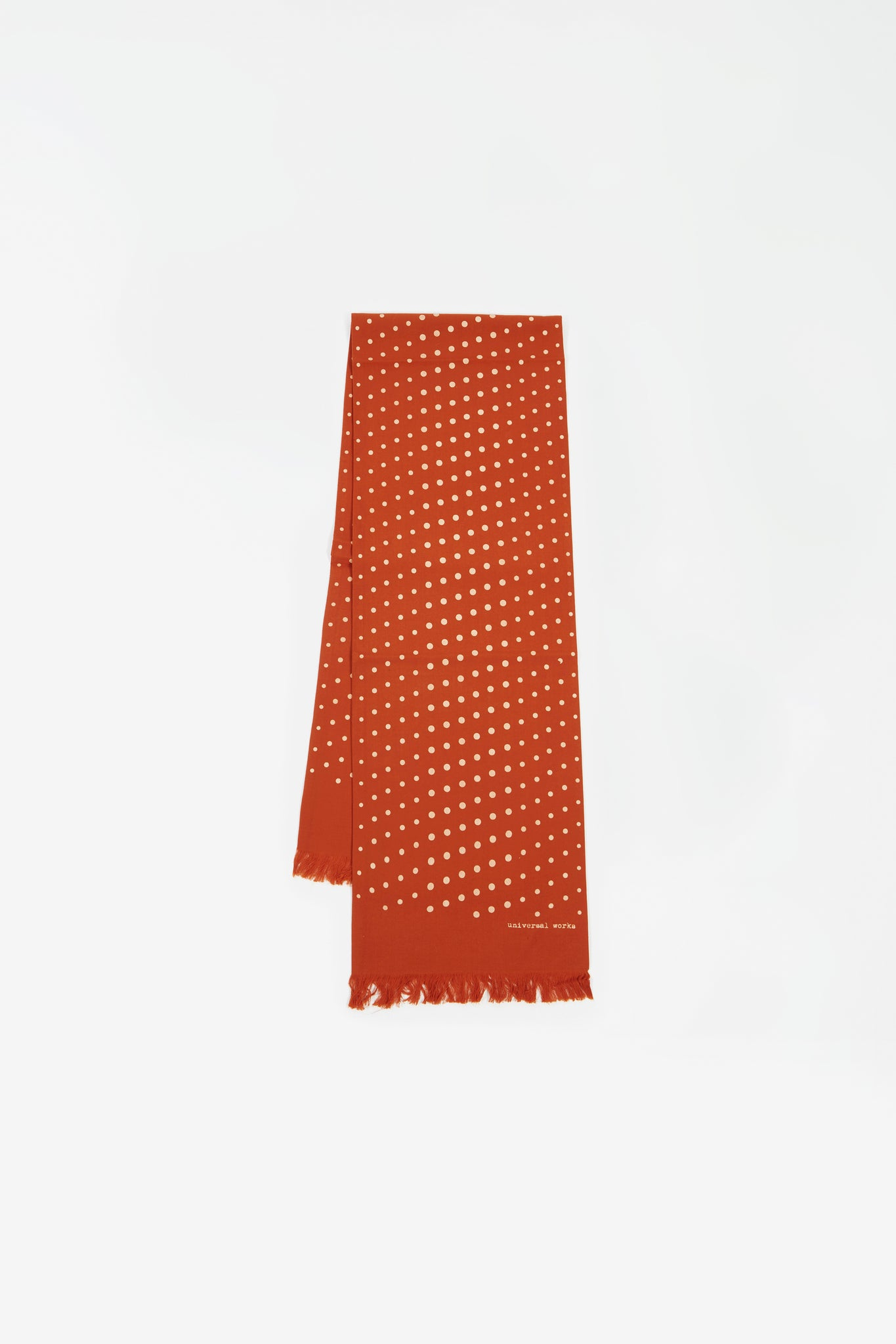 Short scarf dot print orange