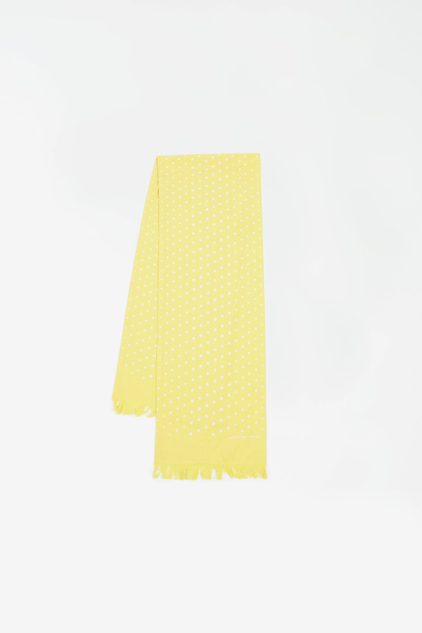 Short scarf dot print yellow