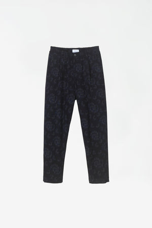 Smoke trousers dark navy AOP