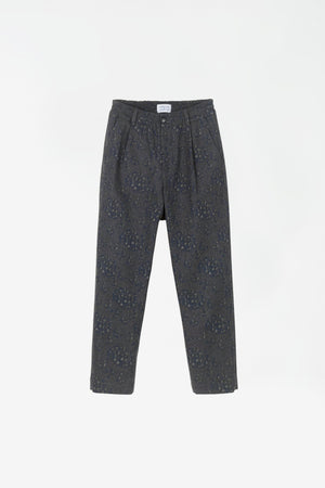 Smoke trousers grey melange AOP