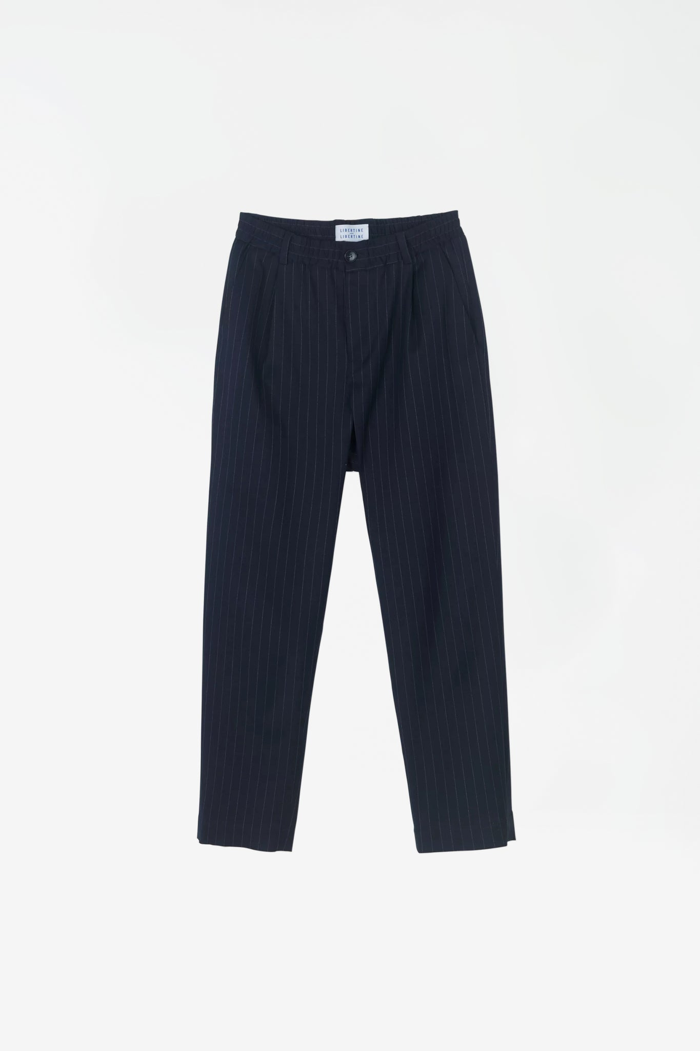 Smoke trousers navy pin stripe