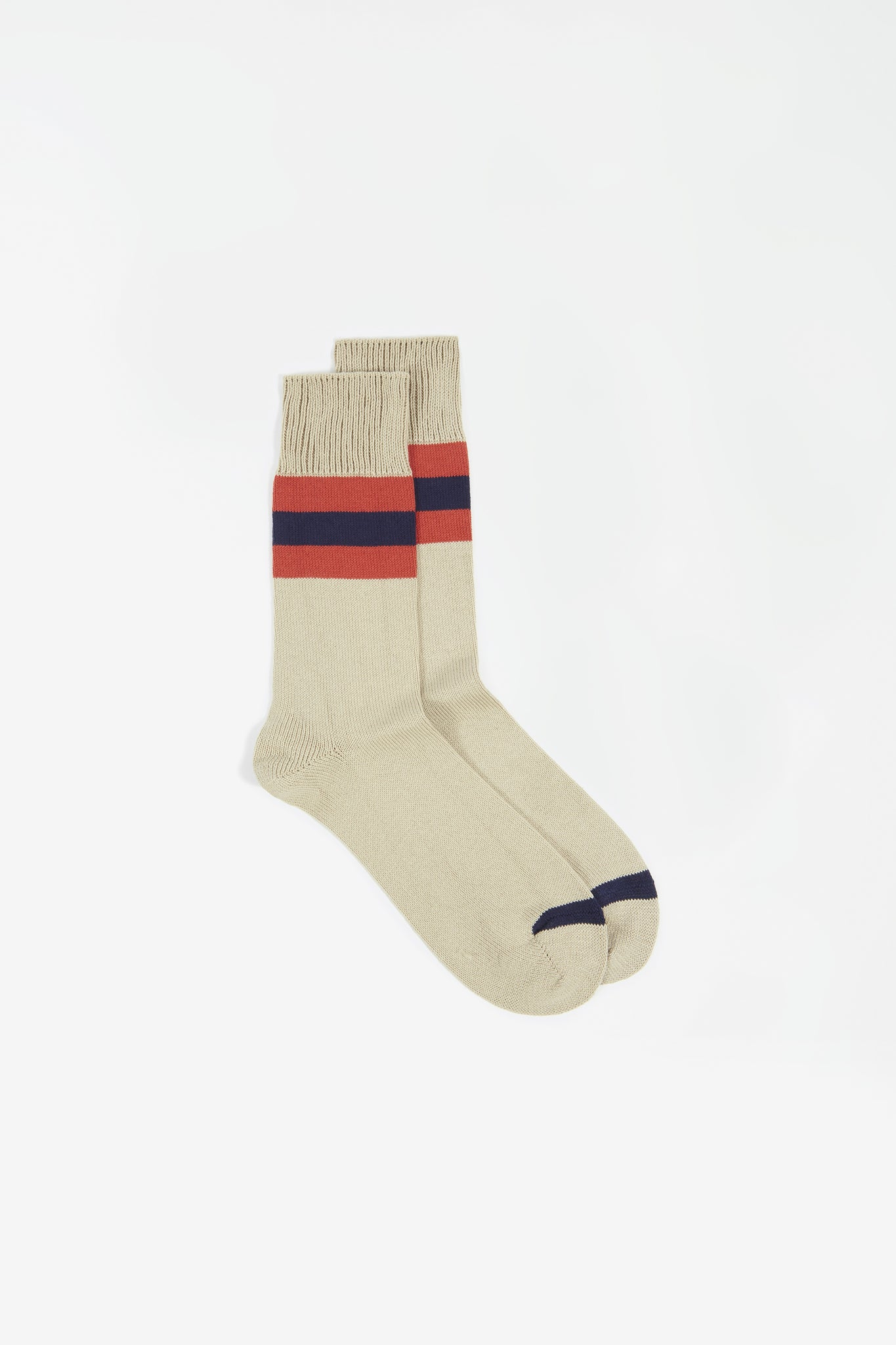 Sport stripe sock ecru