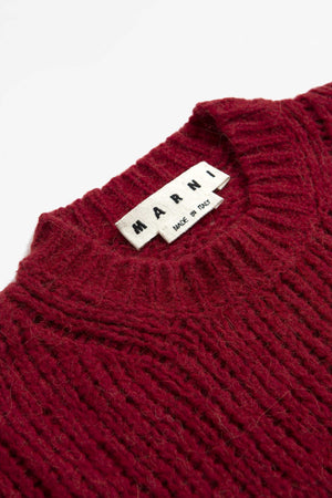 Roundneck sweater red