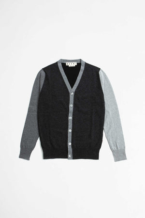V neck cardigan grey