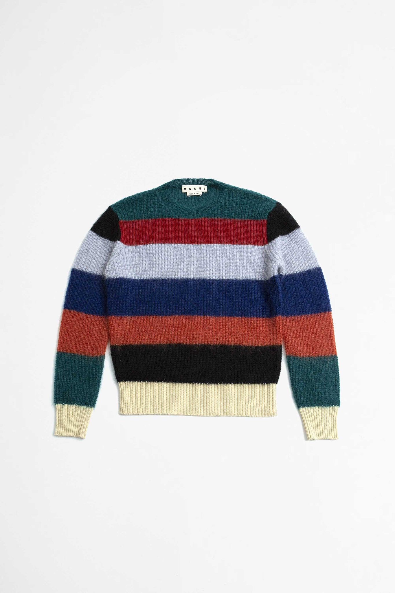 Multi stripe sweater red