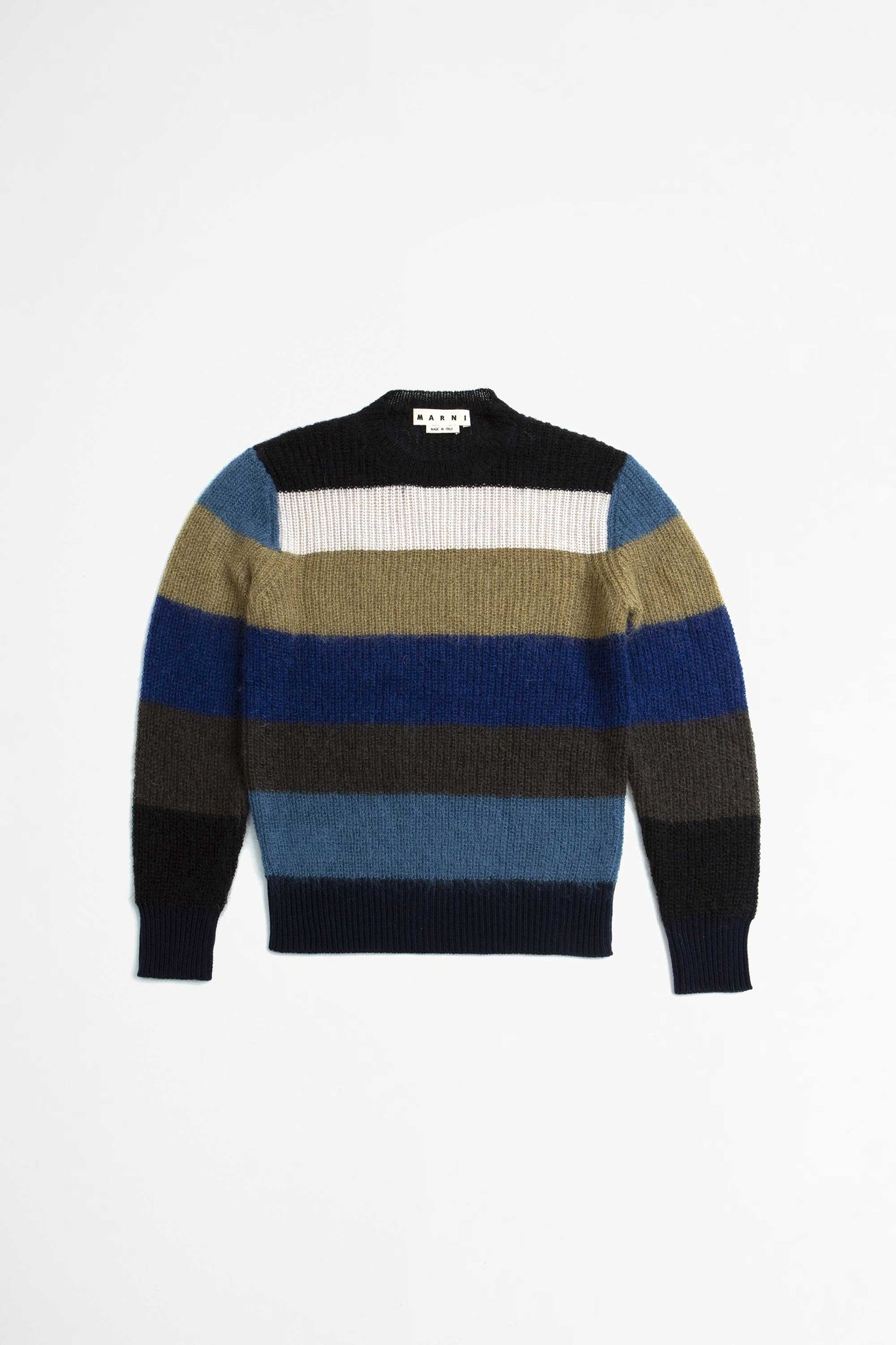 Multi stripe sweater blue