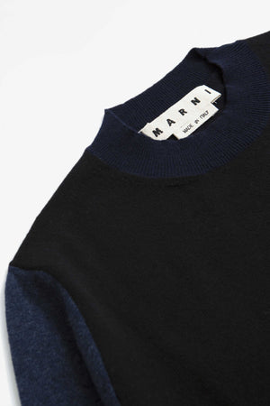 Colour block sweater blue