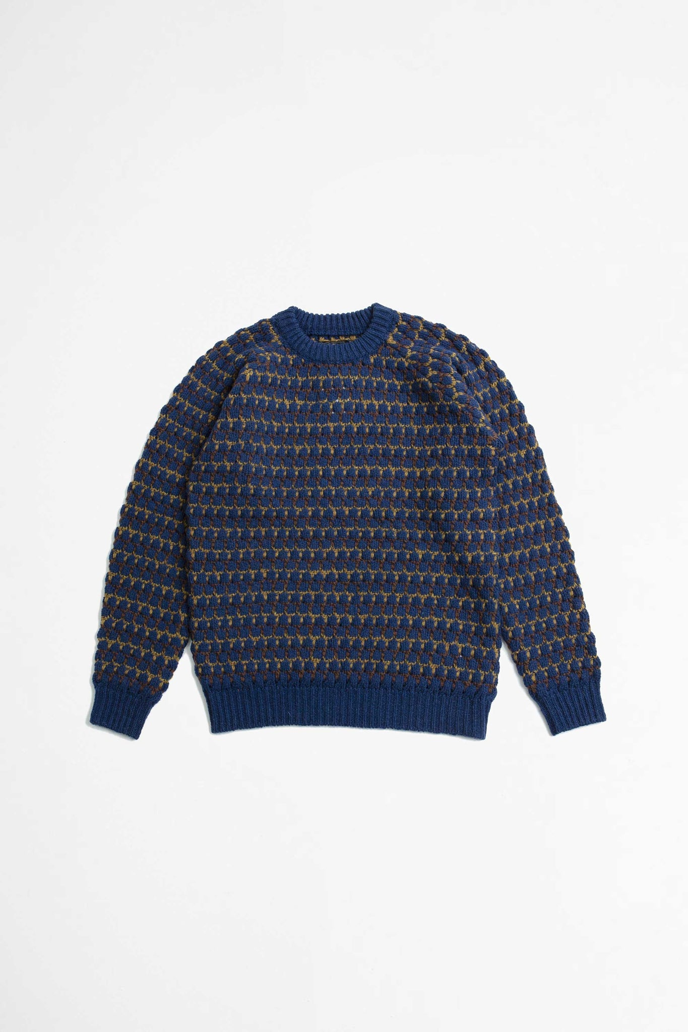 Crew popcorn pattern sweater blue