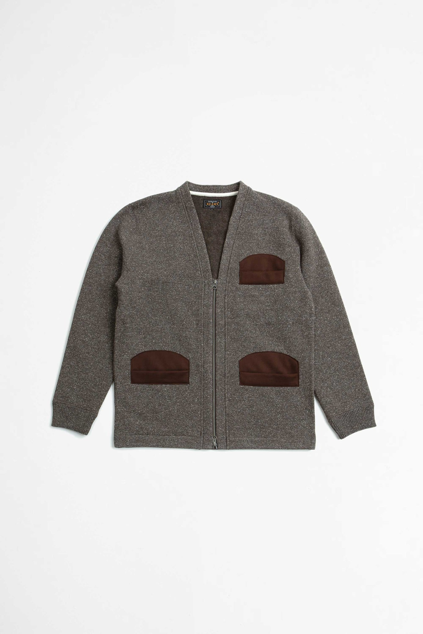 Hunting cardigan jazz brown