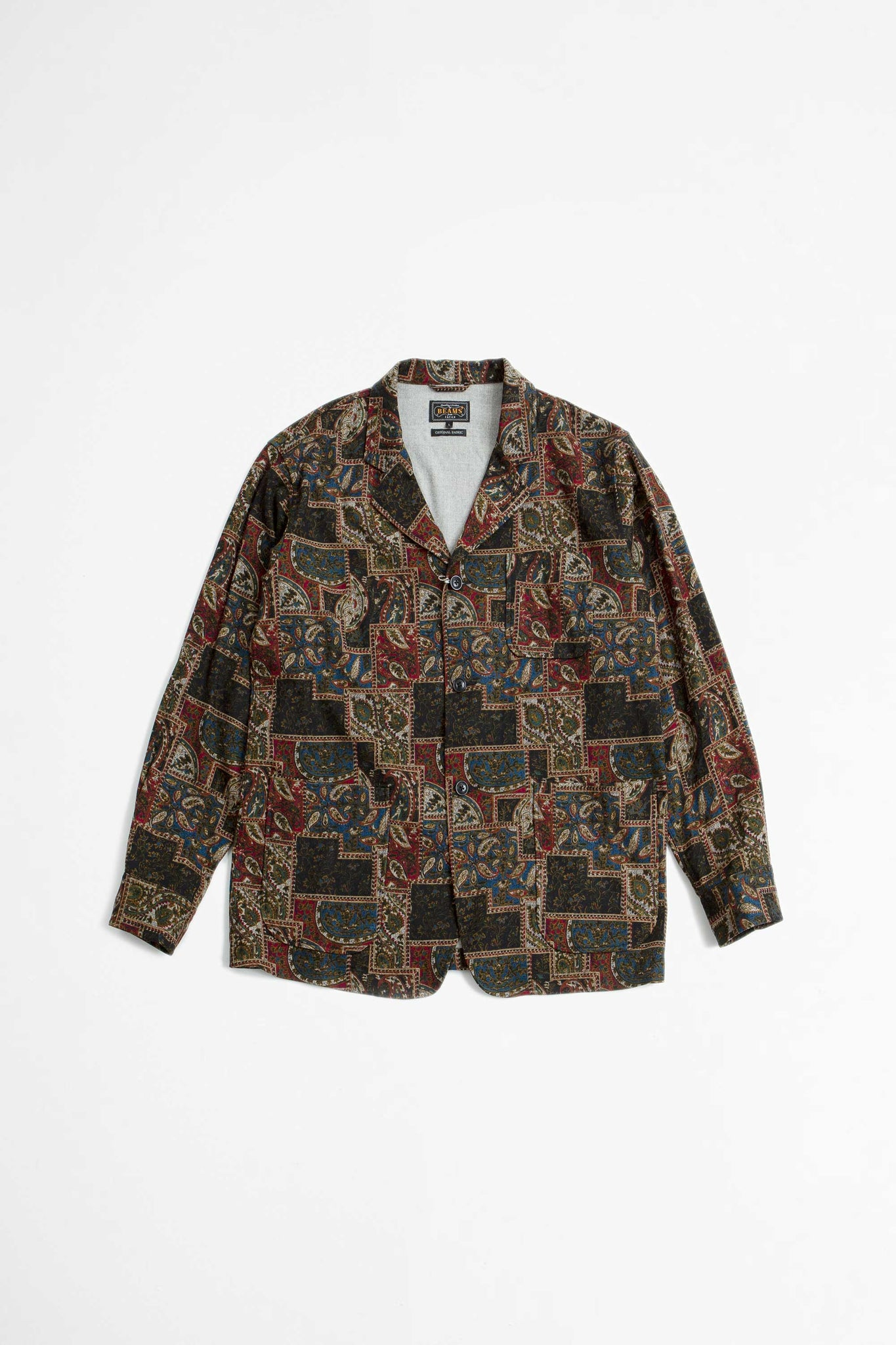 Cuffs jacket wool print