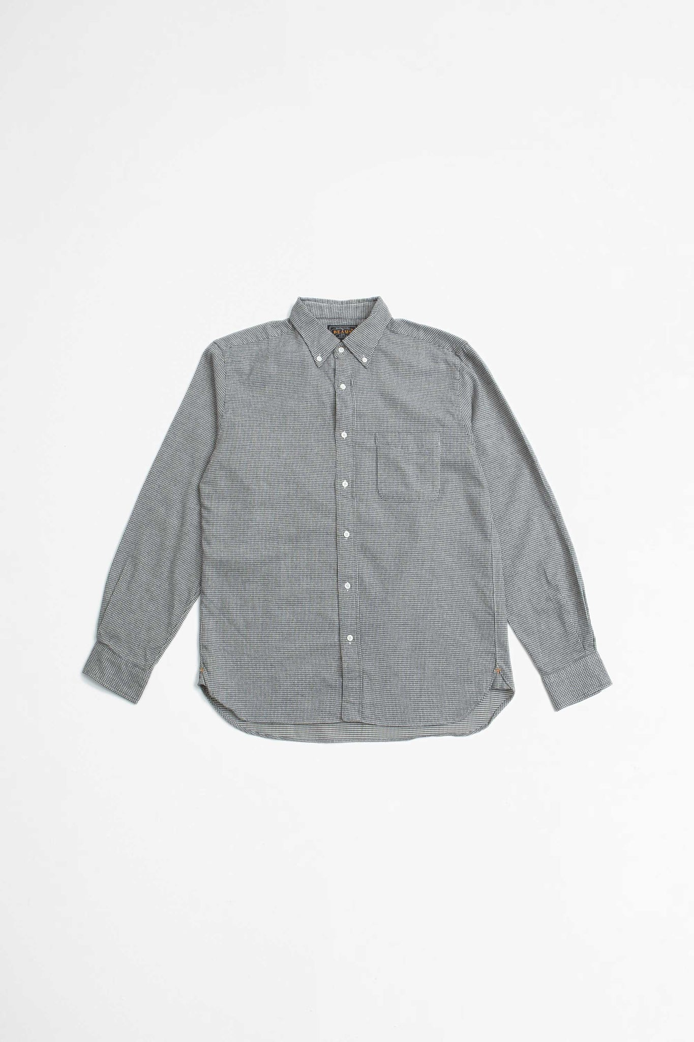 Shaggy hound tooth shirt grey