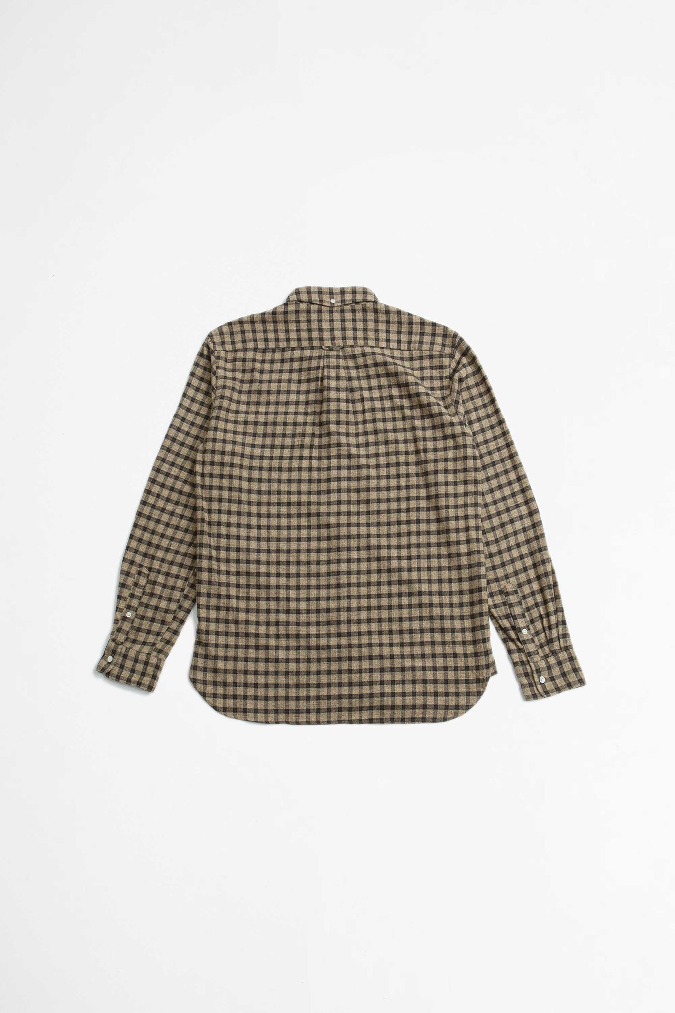 Flannel check speckled dyed shirt