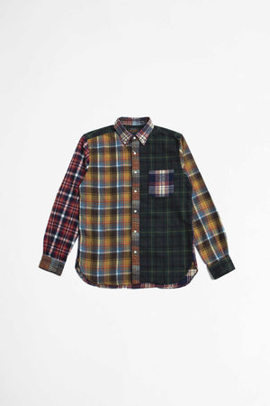 Multi pattern shaggy check shirt crazy