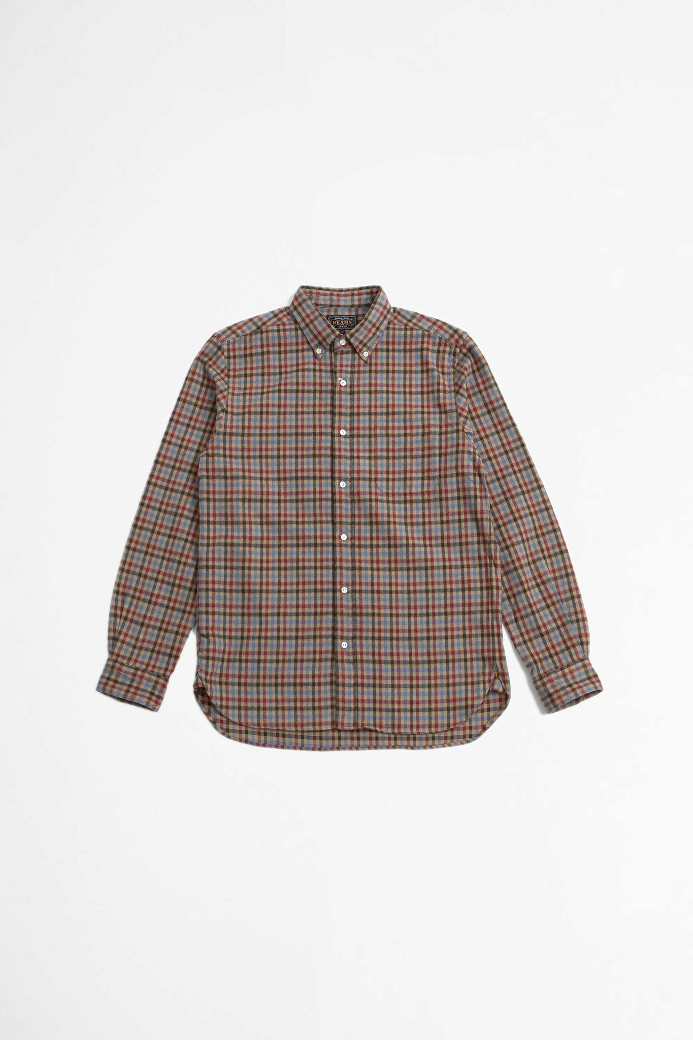Shaggy check shirt red/beige