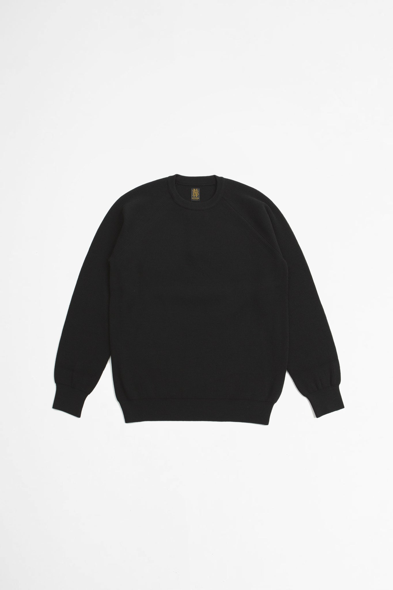 Hightwist wool crew neck black