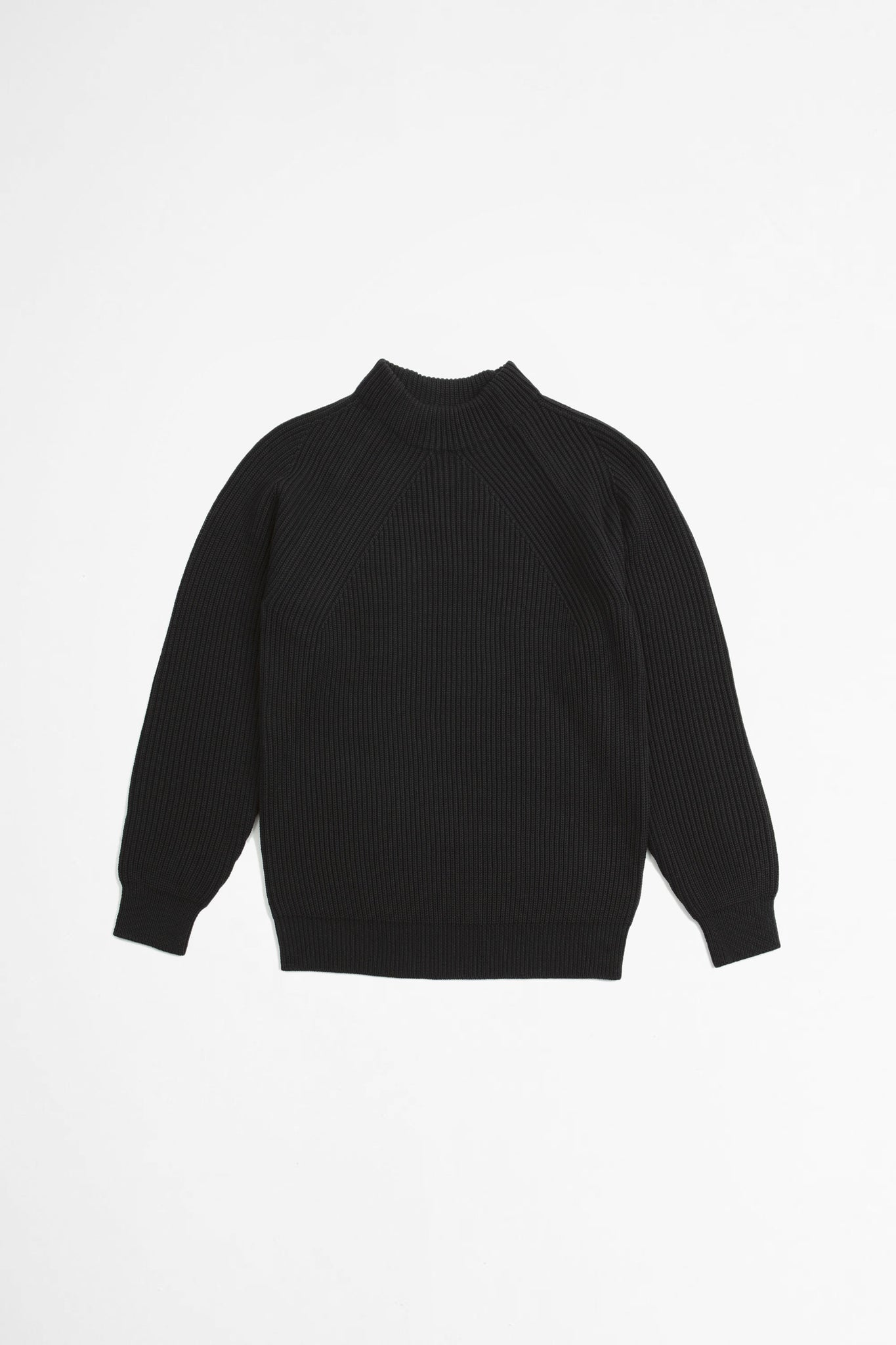 Signature mock neck black
