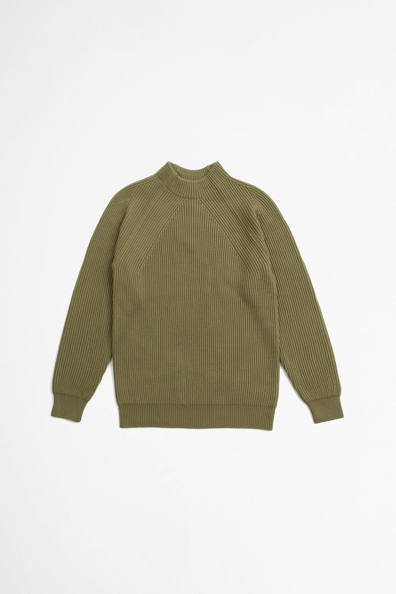 Signature mock neck khaki
