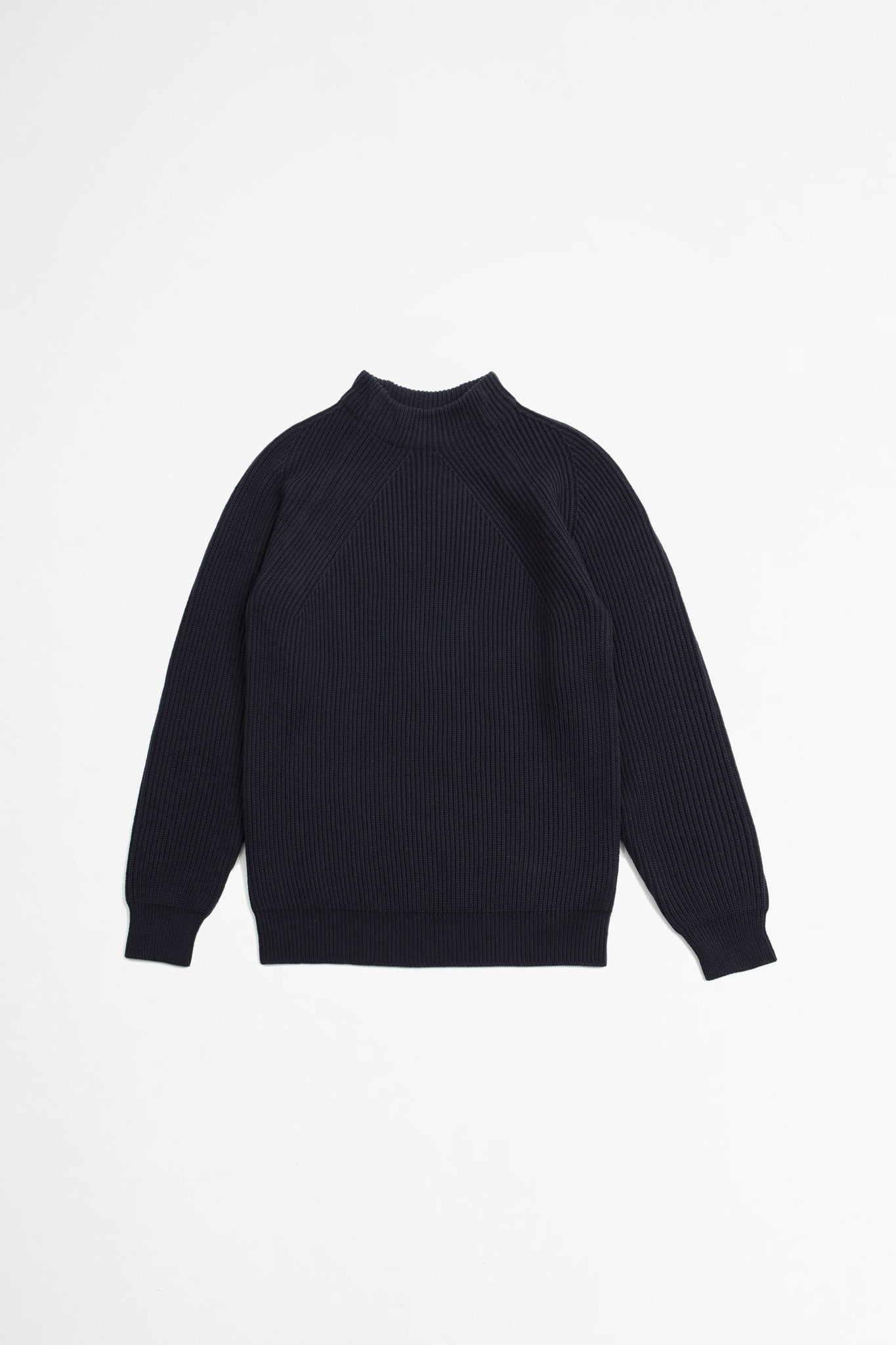 Signature mock neck navy