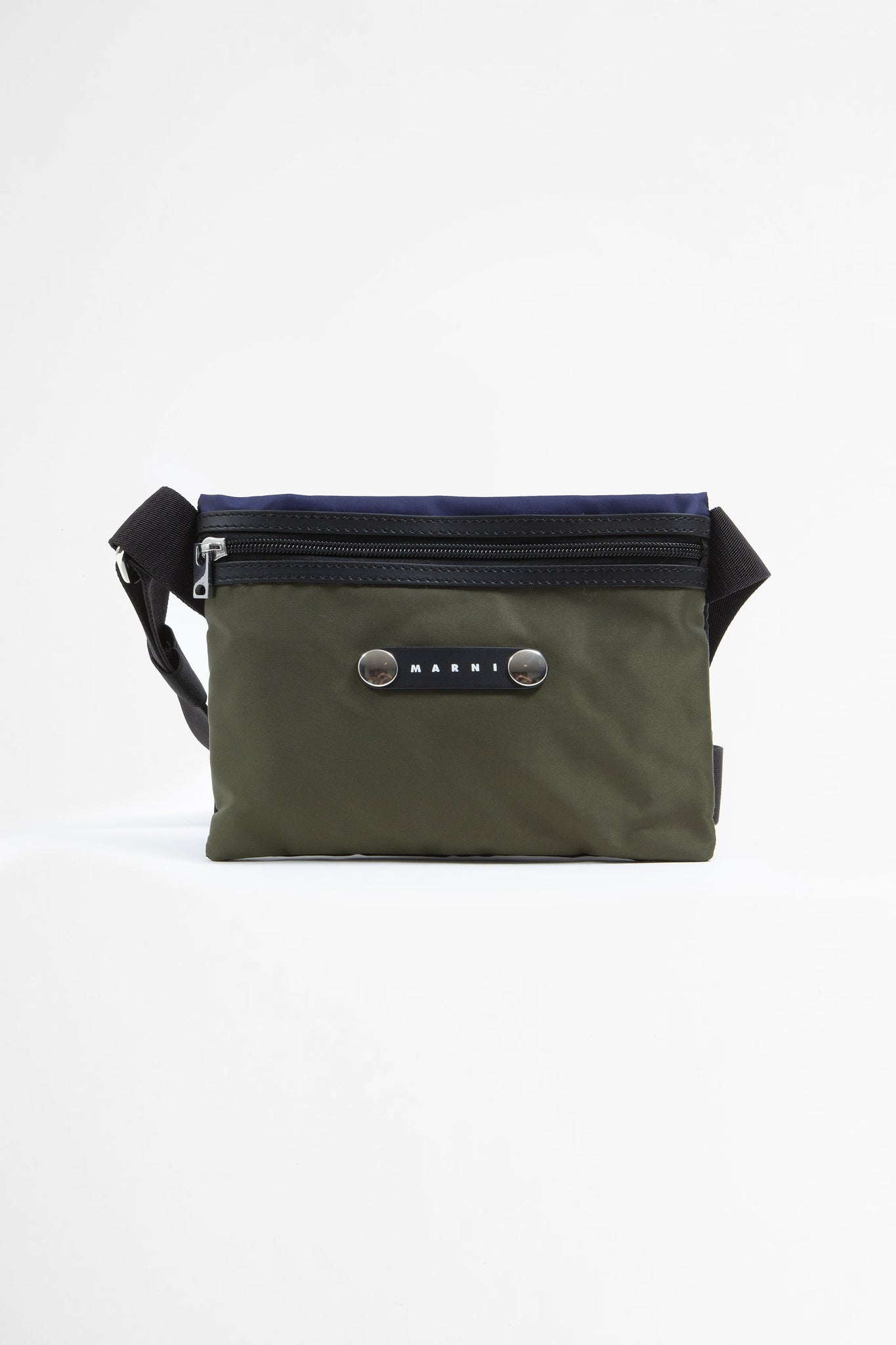 Cross boy bag in three coloured nylon green