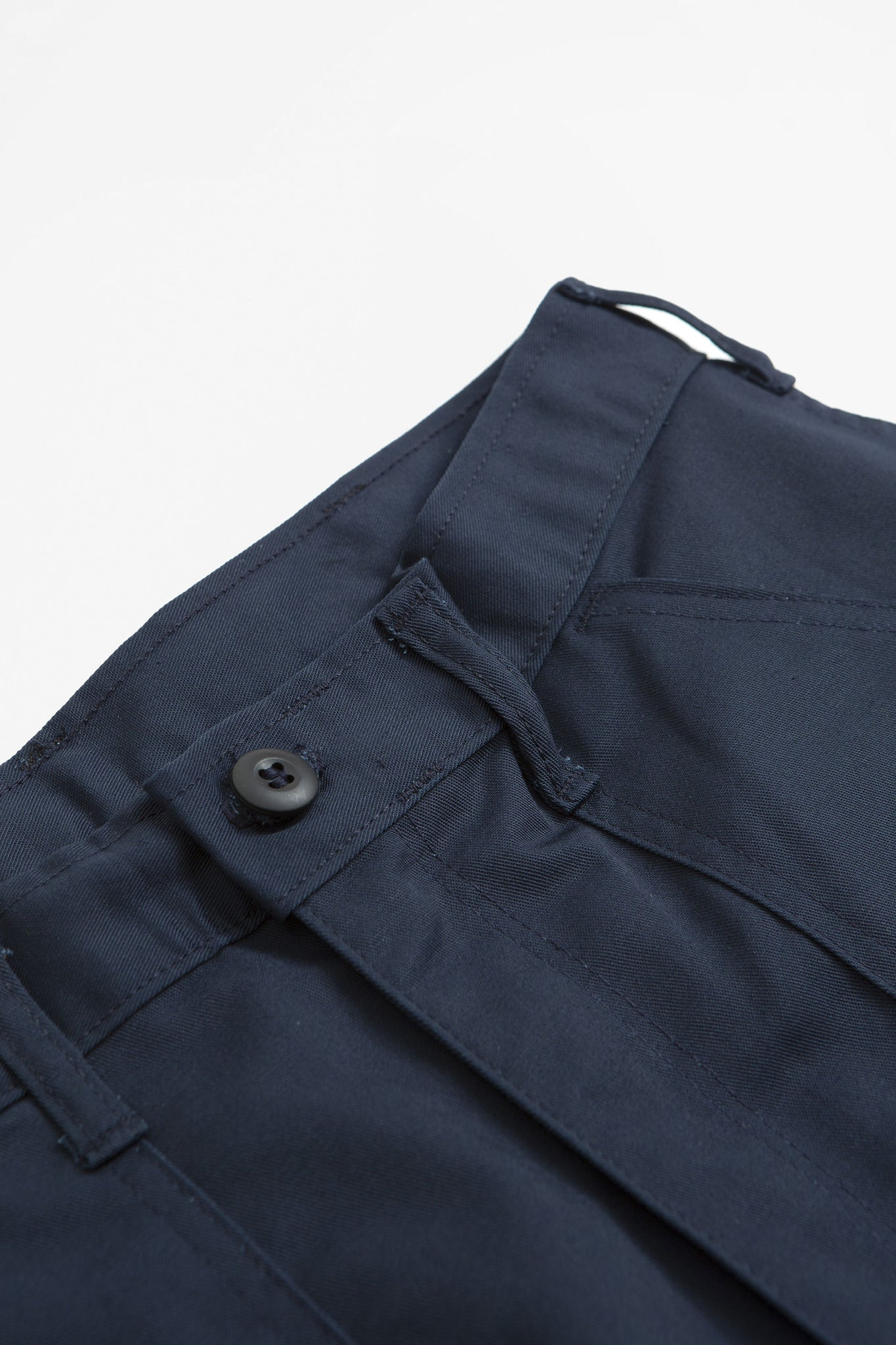 Taper fatigue trousers navy twill