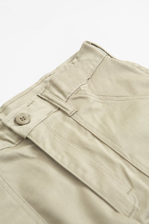 Taper fatigue trousers khaki twill