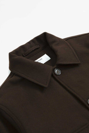Strummer jacket melton chocolate