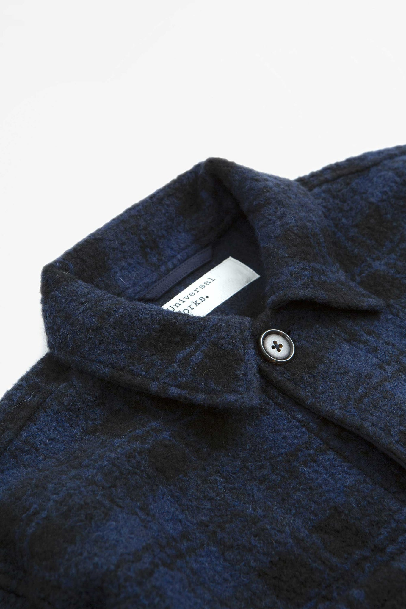 Lumber jacket wool sherpa fleece navy