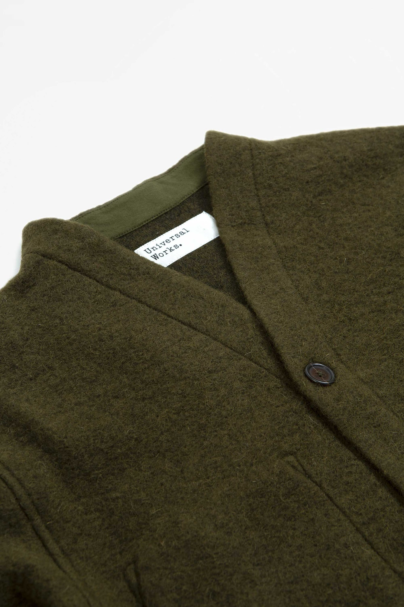 Cardigan wool fleece olive