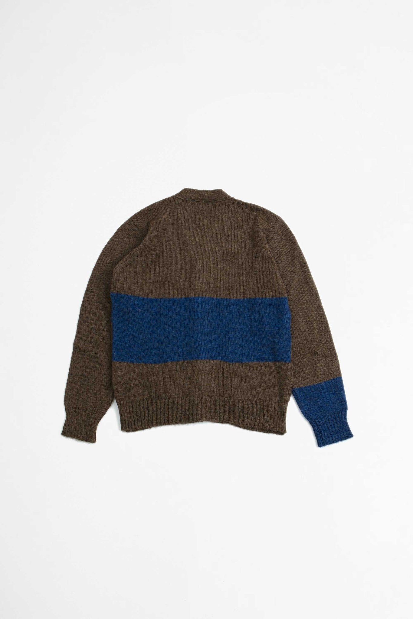 Stripe cardigan mohair chocolate