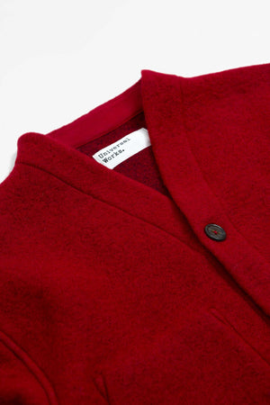Cardigan wool fleece red