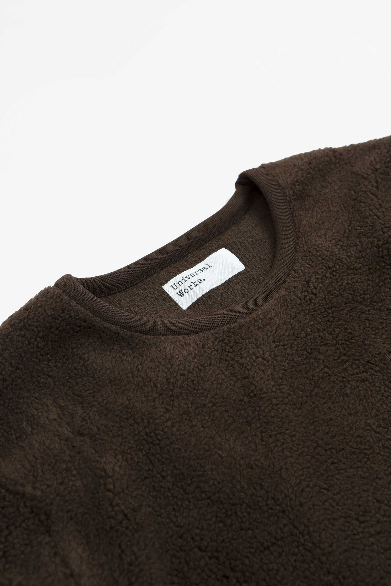 Lancaster crewneck mountain fleece chocolate