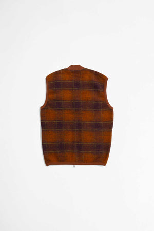 Zip waistcoat austin wool fleece orange