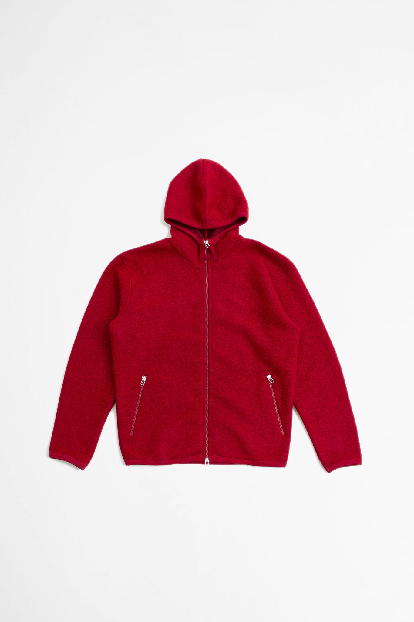Surfer hoodie wool fleece red