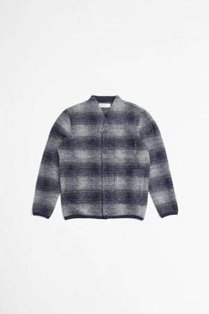 Cardigan austin wool fleece navy