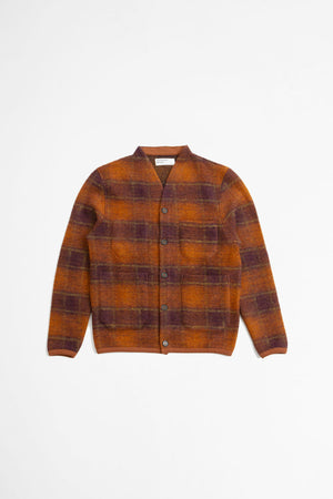 Cardigan austin wool fleece orange