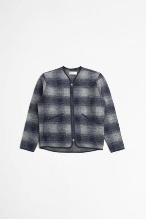 Zip liner jacket austin wool fleece navy