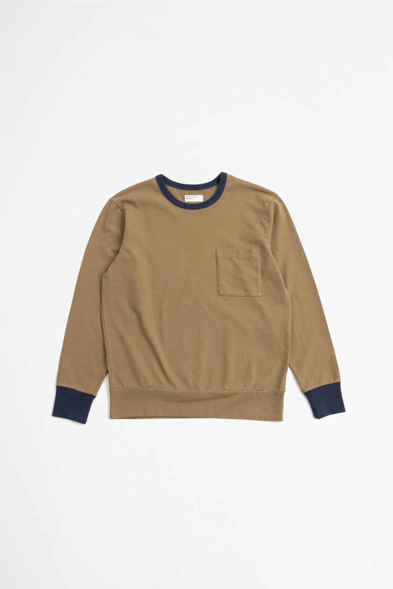 College loose pullover sand