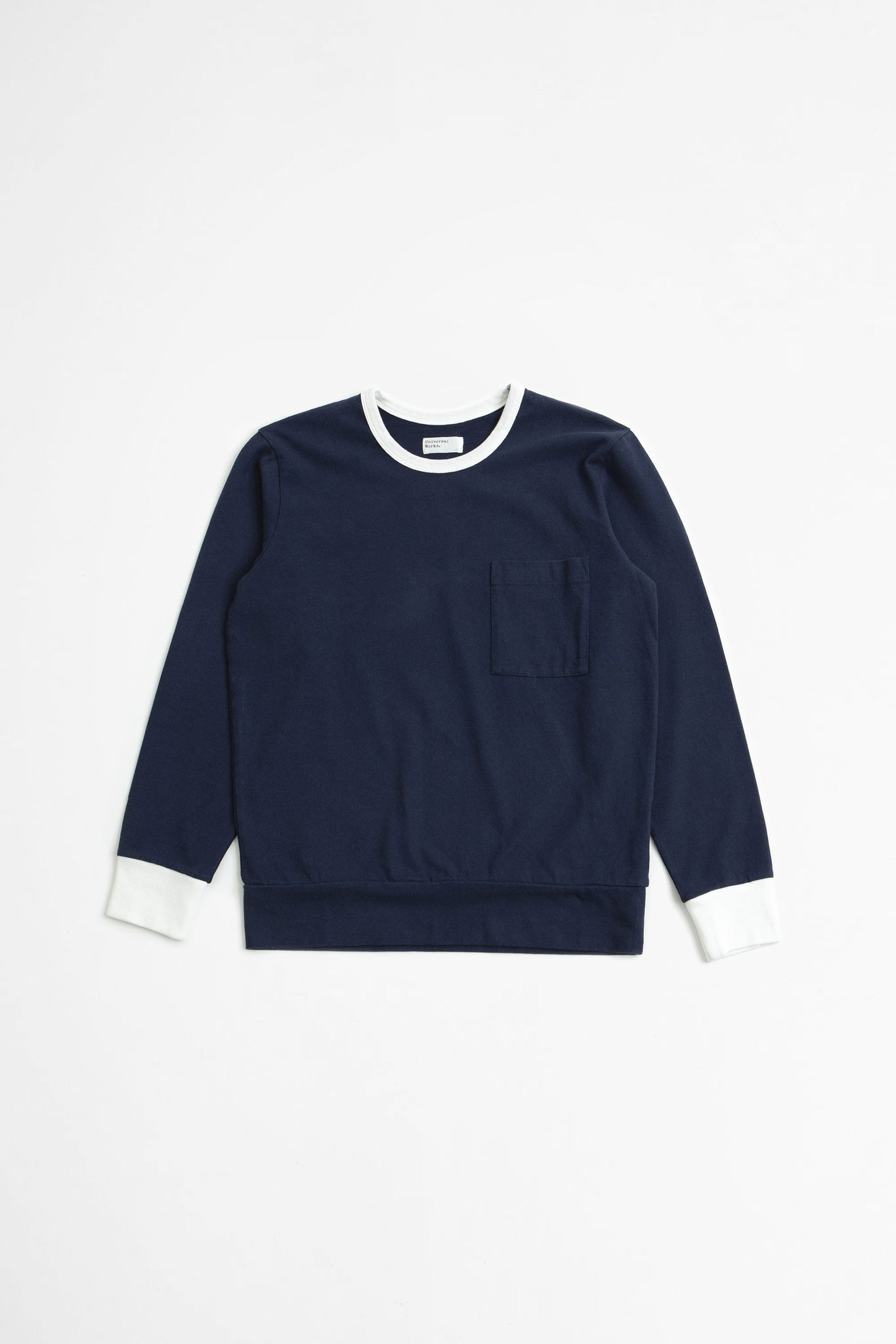 College loose pullover navy
