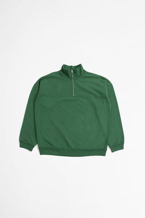 Half zip sweatshirt ivy league green