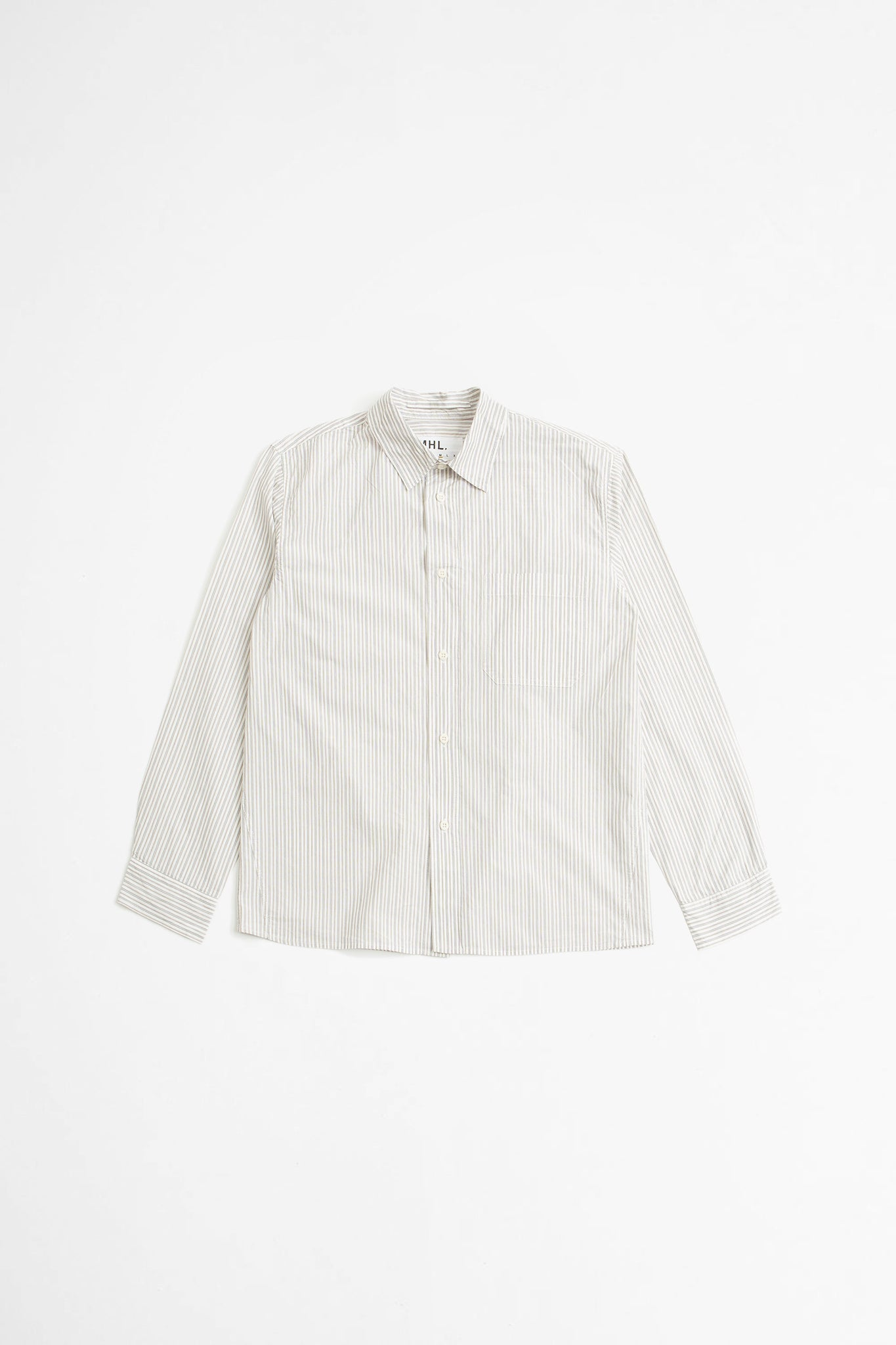 Painters shirt tram stripe ecru/brown