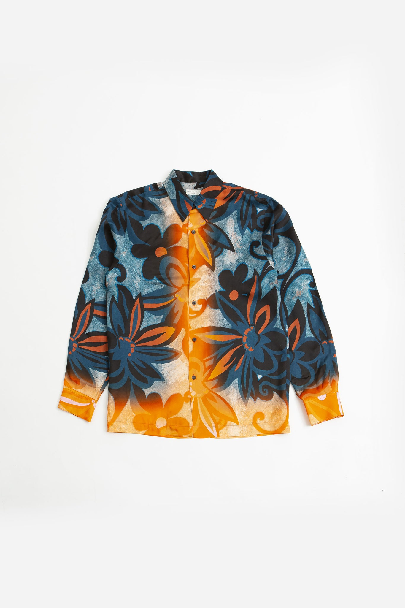 Clasen shirt print blue/orange