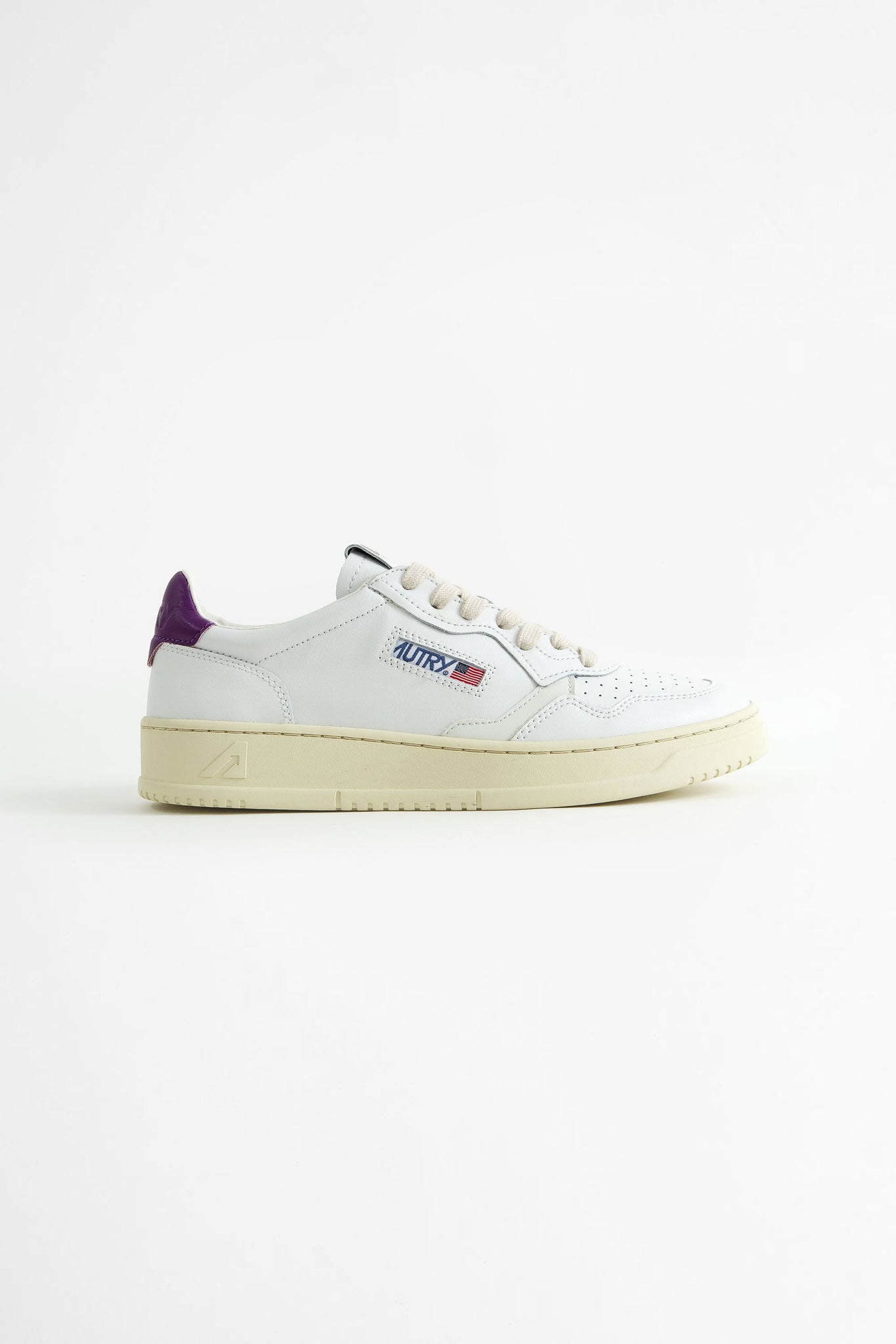Low sneakers leat white/violet